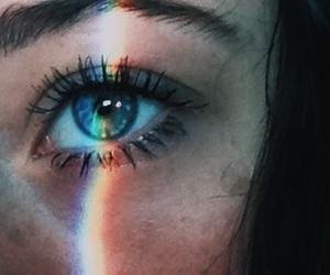 rainbow, eye, and eyes image
