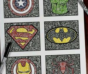 Hulk, batman, and superman image