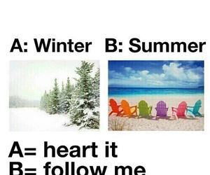 summer, winter, and follow image