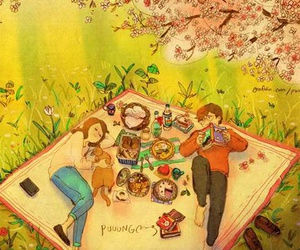 love and picnic image
