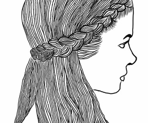 hair, outline, and outlines image