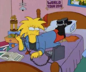 grunge, the simpsons, and Maggie image