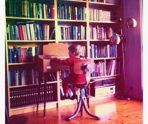 books, boy, and kid image