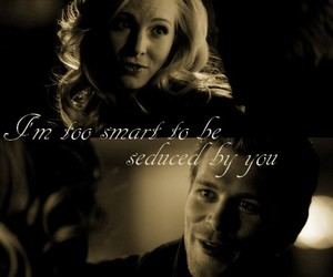 caroline, the vampire diaries, and klaus image