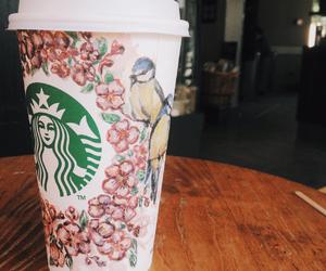 art, birds, and coffee image