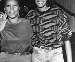aretha franklin and whitney huston image