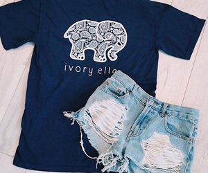 clothes, elephants, and t-shirt image