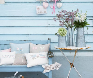 shabby chic, outdoor decor, and cottage charm image
