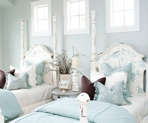 bedroom, shabby chic, and cottage charm image