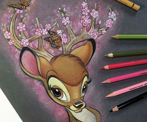 bambi, disney, and art image