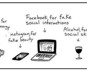 facebook, quote, and alcohol image