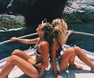 beach, summer, and girls image