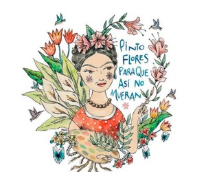 cool, flores, and frida kahlo image