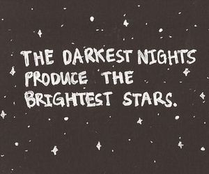stars, quotes, and night image