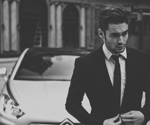 car, boy, and suit image