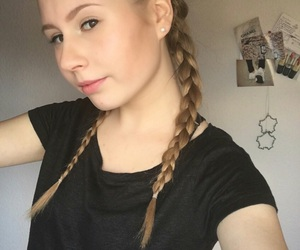 braids, hair, and summer image