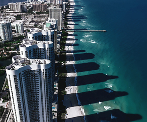 beach, city, and Miami image
