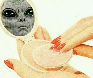 alien, makeup, and make up image