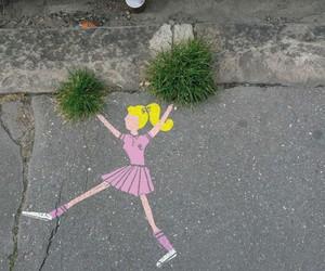 cheerleader, art, and street image