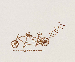 bicycle, drawing, and two image
