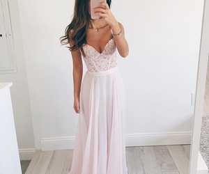 beautiful, pink, and Prom image