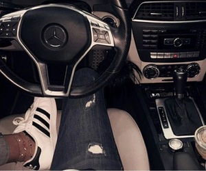 adidas, car, and mercedes image
