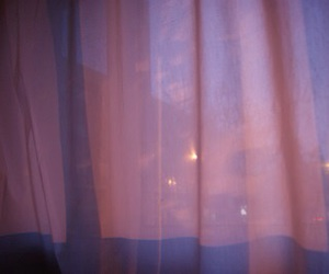 curtains, pink, and purple image