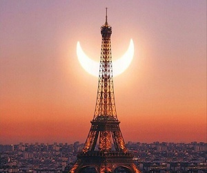 eclipse, sunset, and tour eiffel image