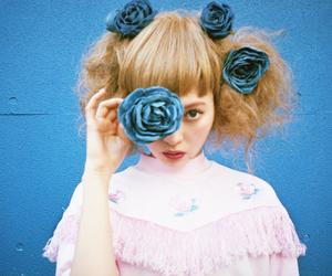 flowers, japanese, and jfashion image