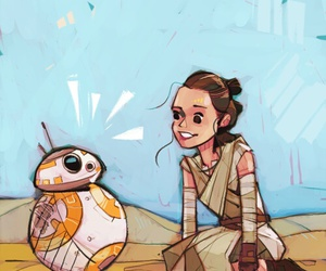 star wars, bb-8, and the force awakens image