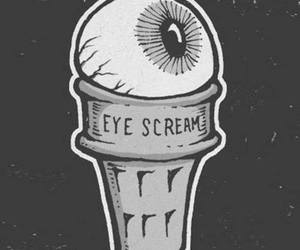 eye, ice cream, and scream image