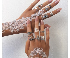 henna, jewelry, and nails image