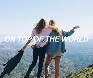 blond, brunette, and friendship image