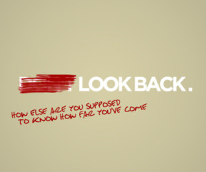 look back