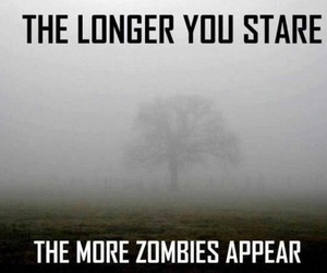 zombies, zombie, and stare image