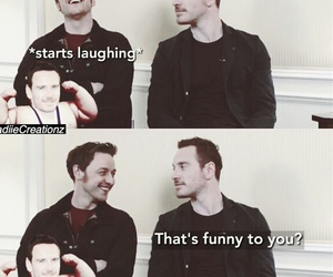 funny, james mcavoy, and fassy image