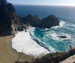 beach, beautiful, and big sur image