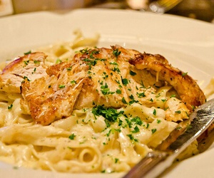 food, pasta, and Chicken image