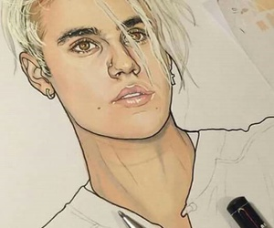 justin bieber, drawing, and art image
