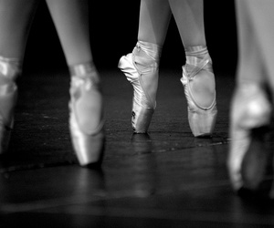 ballet shoes, photo, and black and white image