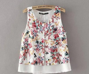 blouse, sleeveless, and crop top image