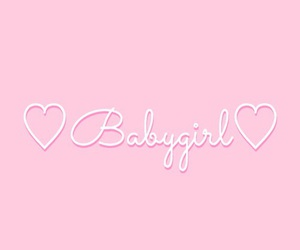 hearts, pink, and babygirl image