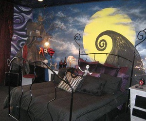 bedroom, tim burton, and nightmare before christmas image