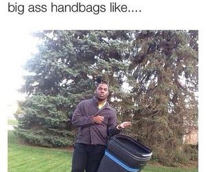 funny, lol, and bag image
