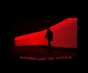 red, quotes, and black image