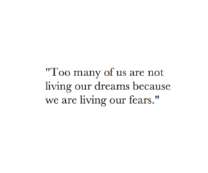 quote and fear image