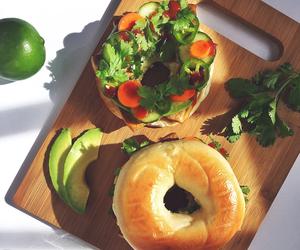 bagel, healthy, and banh mi image