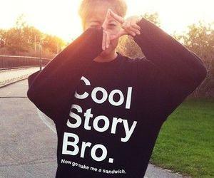 cool story bro, adidas, and swag image