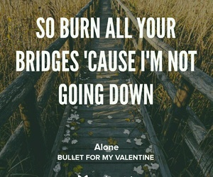 alone, bridge, and bullet for my valentine image