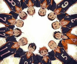 haikyuu, anime, and team image